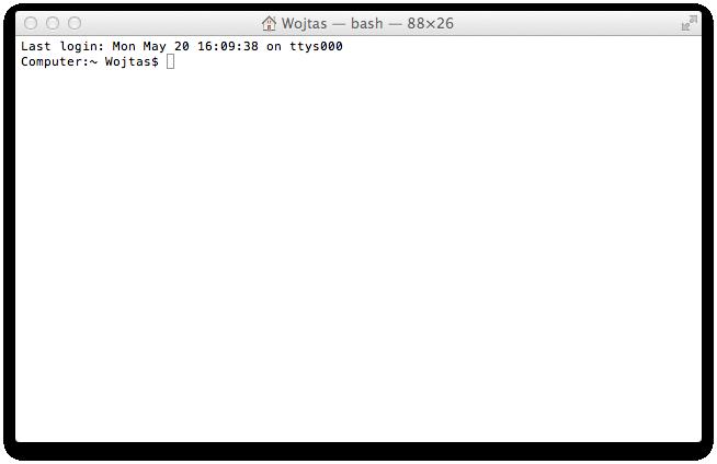 Terminal w Mac OS X